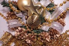 Leksaker för nytt år och jul Royaltyfri Foto