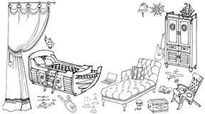 Leksaker för soffa för stomöblemangpojke 90 50 Arkivfoton