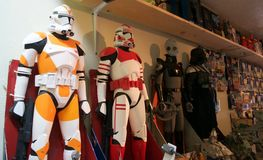 Leksaker för Star Wars klonmilitärpolis Arkivbild