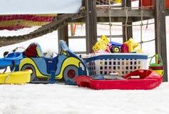 Leksaker och snö Royaltyfri Bild