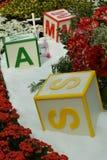 Leksaker på snögränd Royaltyfria Foton