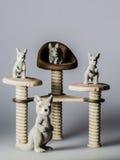 Leksakkänguru på stolar Royaltyfria Foton