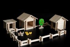 Leksakmodell av ett hus Royaltyfria Bilder
