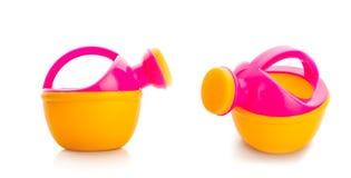 Leksakplast- som bevattnar kan Royaltyfri Fotografi