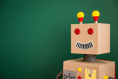 Leksakrobot i skola Royaltyfria Foton