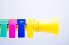Leksaksaxofon Royaltyfri Foto