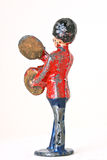 Leksaksoldat med dängande cymbaler Royaltyfri Foto