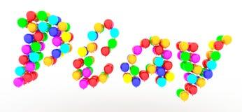Lektext av ballonger Royaltyfri Bild
