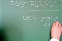 Lektion der englischen Grammatik Lizenzfreie Stockfotos
