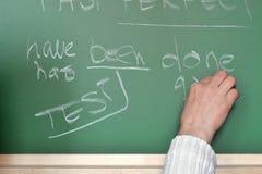 Lektion der englischen Grammatik Lizenzfreies Stockfoto