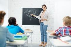 Lektion von Geografie lizenzfreie stockfotos