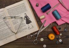 Lektionen von Dressmaking Stockbilder