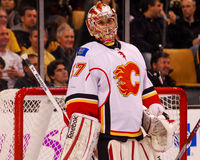 Leland Irving Calgary Flames Imagem de Stock Royalty Free