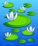 Leliesachtergrond Vector Illustratie