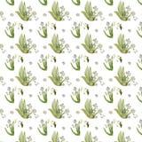 Lelietje-van-dalenpatroon voor de lenteinzameling stock foto's