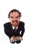 Lelijk manager en toetsenbord stock foto