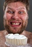 Lelijke het borstelen tanden stock foto