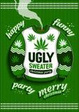 Lelijke Kerstmissweater royalty-vrije illustratie