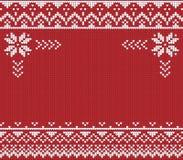 Lelijke Sweater Vectorillustratie Met de hand gemaakte gebreide pa als achtergrond stock illustratie