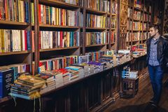 Lello bookstore in Porto city Royalty Free Stock Images