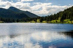 Lelui Skalistej góry parka narodowego Kolorado Jeziorny ślad Obraz Stock