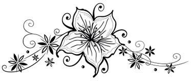 Leluje, kwiaty Fotografia Royalty Free