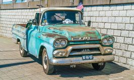 GMC 100 Oldtimer at the annual national oldtimer day in Lelystad Royalty Free Stock Photography