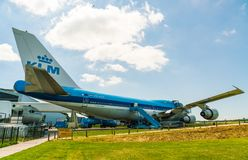 KLM Boeing 747 PH-BUK Airplane displayed at the Aviodrome Airplane museum Stock Image