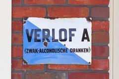 LELYSTAD, THE NETHERLANDS - JUNE 9, 2016: Old permit (Verlof A) Royalty Free Stock Photo