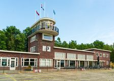 Replica building of the old terminal of Schiphol at the Aviodrome Airplane museum. Lelystad, The Netherlands, June 18, 2017: Replica building of the old terminal Royalty Free Stock Images