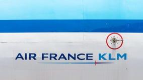 LELYSTAD, OS PAÍSES BAIXOS - 9 de junho de 2016 - close-up de Air France Imagens de Stock