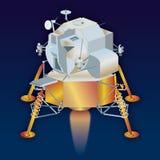 LEM lunar Module, Apollo 11, year 1969. Apollo 11 LEM lunar Module, landing on the moon satellite, vector illustration vector illustration
