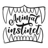 Lema animal con los mandíbulas, ejemplo del instinto libre illustration