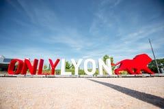 Lema de la ciudad de Lyon foto de archivo libre de regalías