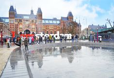 Lema delante del museo de Rijks - ciudad Holanda de i Amsterdam de Amsterdam fotos de archivo
