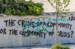 lema en una pared en Grecia imágenes de archivo libres de regalías