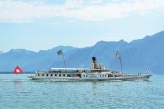 Lemański jezioro, Szwajcaria Obrazy Royalty Free