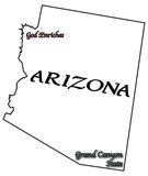 Lema y lema del estado de Arizona stock de ilustración