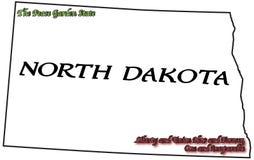 Lema y lema del estado de Dakota del Norte Imagenes de archivo