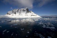 南极洲通道lemaire 免版税库存图片