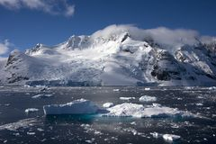 Lemaire channel, antarctica. Sunny day in the famous Lemaire Channel, Antarctica stock photos