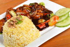 Lemak de Nasi, repas traditionnel asiatique de riz Photo libre de droits