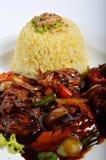 Lemak di Nasi, pasto tradizionale asiatico del riso Immagini Stock Libere da Diritti