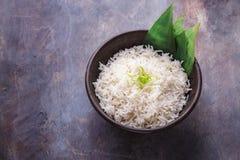 Lemak Nasi или рис малайца душистый сваренный в молоке кокоса и pandan лист, космосе экземпляра стоковые изображения