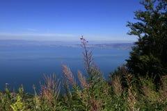 The Leman lake, Evian, France Royalty Free Stock Photo