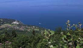The Leman lake, Evian, France Royalty Free Stock Photos