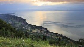 The Leman lake, near Evian, Savoie, France Stock Image