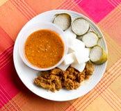 Lemang rendang ketupat Stock Photo