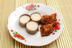 Lemang & Rendang prontos para comer em Eid Festival imagem de stock royalty free