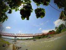 Lematang-Fluss stockfoto